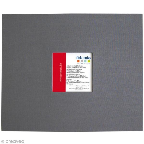 Album pour scrapbooking - Gris anthracite - 21 x 25 cm - Photo n°1