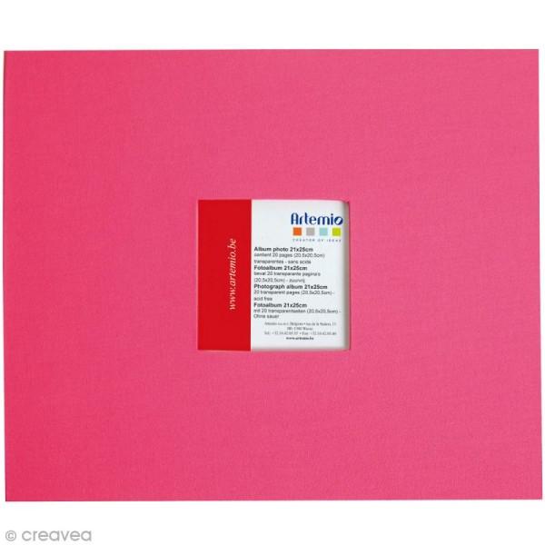 Album pour scrapbooking - Rose fuchsia - 21 x 25 cm - Photo n°1