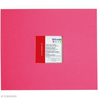 Album pour scrapbooking - Rose fuchsia - 21 x 25 cm