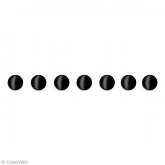 Attaches parisiennes Artemio - Noir - Rond - 5 mm - 100 brads