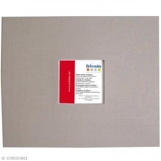 Album pour scrapbooking - Gris clair - 21 x 25 cm