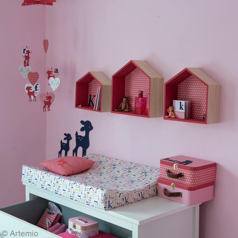 Etagères Maison à décorer en bois - 3 pcs - Photo n°3