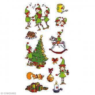 Stickers Artemio Puffies - Lutin et Noël - 11 pcs