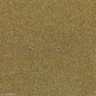 Feuille adhésive - Paillettes or doré - 30 x 30 cm