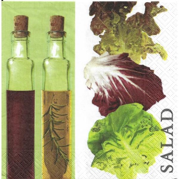 4 Serviettes en papier Salade Huile Format Lunch Decopatch 20632 Paper+Design - Photo n°1