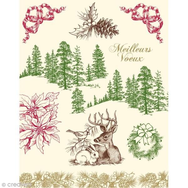 Tampons Clear Artemio - Gravure esprit Noël - 8 pcs - Photo n°2