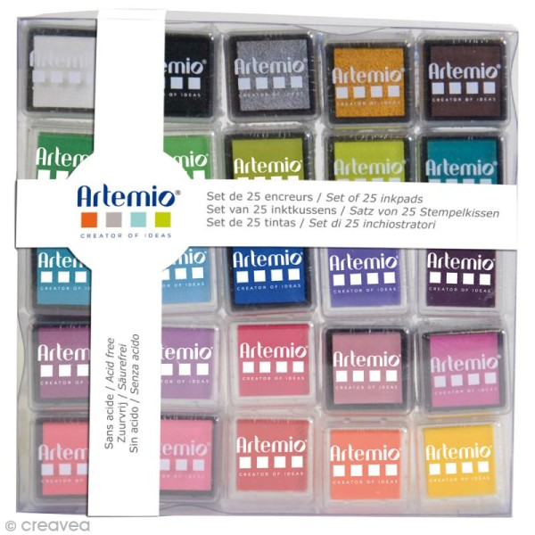 Set encreurs Artemio -Assortiment couleurs - 25 pcs - Photo n°1