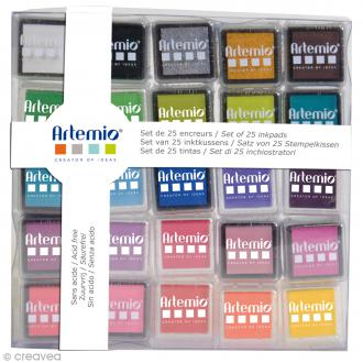 Set encreurs Artemio -Assortiment couleurs - 25 pcs