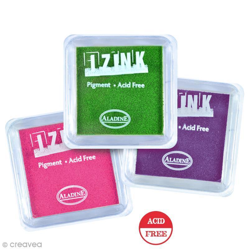 Encreurs à pigment Izink Aladine - 8 x 8 cm - Photo n°1