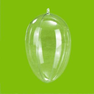 Oeuf plastique transparent 8 cm