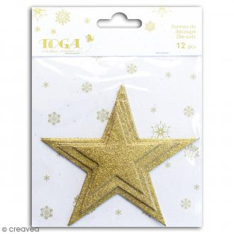 Die cuts Etoiles L'Or de Bombay - Or à paillettes - 12 pcs