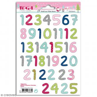 Stickers Toga Chiffres 1 à 25 - Multicolore - 25 pcs