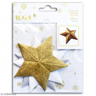 Die cuts Etoiles - Assortiment pailletté - 12 pcs