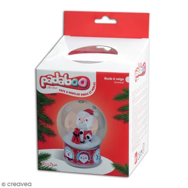 Kit pâte à modeler Padaboo Boule à neige - Père Noël - Photo n°1