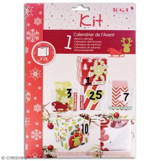 Kit créatif Calendrier de l'Avent Toga - Noël traditionnel