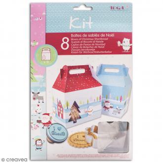 Kit Boîtes de sablés de Noël - Noël au Pôle Nord