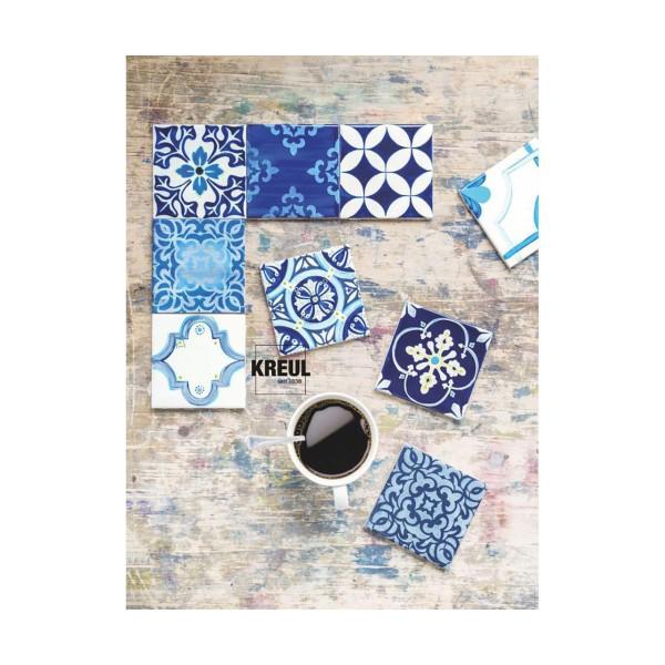 Le verre Et la Porcelaine Peinture KREUL Clair, Bleu Foncé, 20ml, Peinture d'Artisanat, de Coloratio - Photo n°2