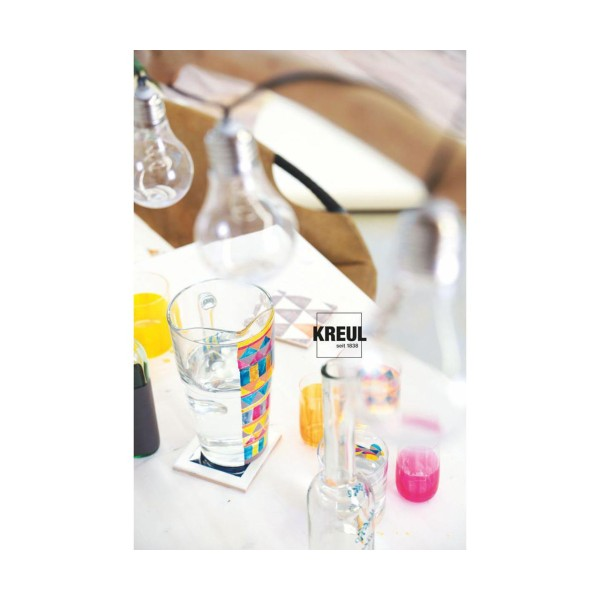 Le verre Et la Porcelaine Peinture KREUL Clair, Bleu Foncé, 20ml, Peinture d'Artisanat, de Coloratio - Photo n°4