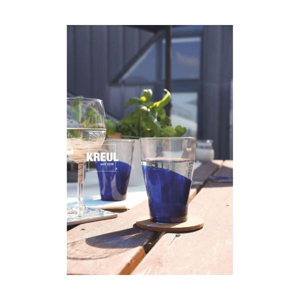 Le verre Et la Porcelaine Peinture KREUL Clair, Bleu Foncé, 20ml, Peinture d'Artisanat, de Coloratio - Photo n°5