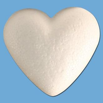 Coeur en polystyrène 9 cm