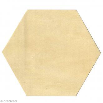 Dessous de verre en bois - Hexagone - 9,5 x 11 cm - 6 pcs