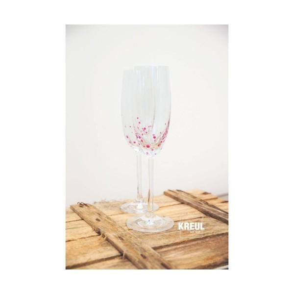 Le verre Et la Porcelaine Peinture KREUL Clair Rouge Cerise 20ml, Peinture d'Artisanat, de Coloratio - Photo n°3