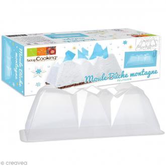 Moule à gâteau Bûche montagne - PVC