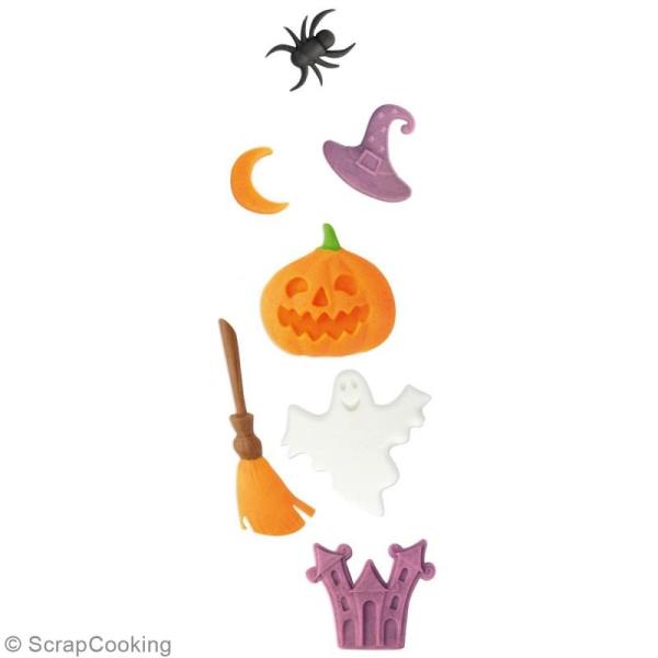 Moule en silicone Halloween - 8 pcs - Photo n°2