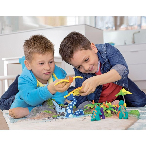 FIMO Kids 42g - les Enfants de la pâte à modeler Rouge Avec des Paillettes, de l'Argile Polymère, Ar - Photo n°3