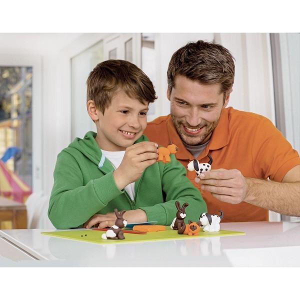 FIMO Kids 42g - les Enfants de la pâte à modeler Rouge Avec des Paillettes, de l'Argile Polymère, Ar - Photo n°4