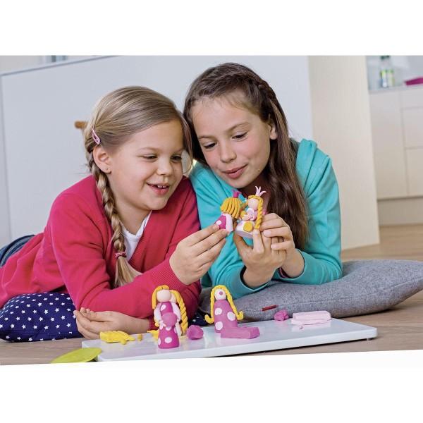 FIMO Kids 42g - les Enfants de la pâte à modeler Rouge Avec des Paillettes, de l'Argile Polymère, Ar - Photo n°5