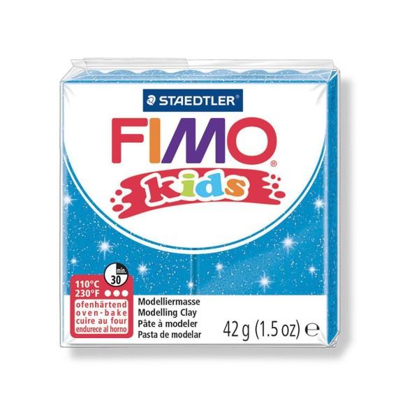 FIMO Kids 42g - Enfants Bleu Avec des Paillettes en pâte à modeler, Argile Polymère, Argile de l'Art - Photo n°1