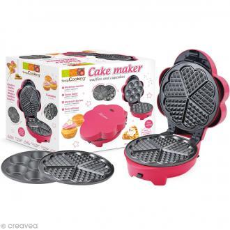 Appareil à gaufres et cupcakes ScrapCooking - 2 plaques interchangeables