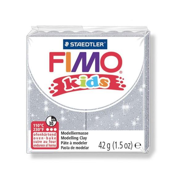 FIMO Kids 42g - Argent Avec Paillettes Enfants de la pâte à modeler, Argile Polymère, Argile de l'Ar - Photo n°1