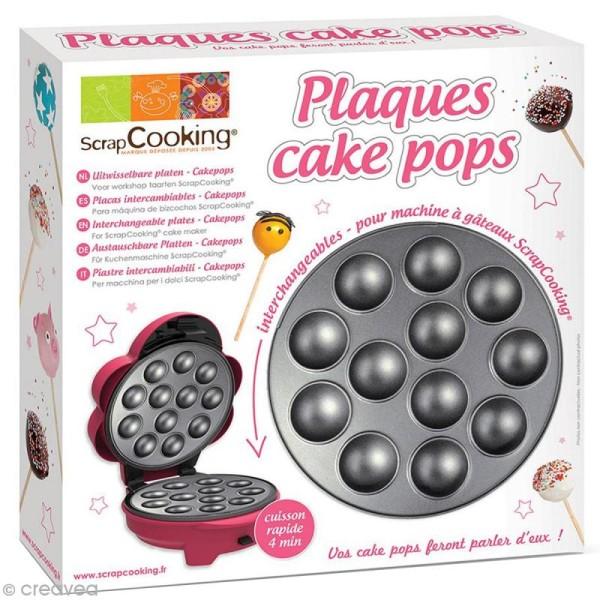 plaque cake pops adaptable avec appareil de cuisson scrapcooking petit lectrom nager. Black Bedroom Furniture Sets. Home Design Ideas