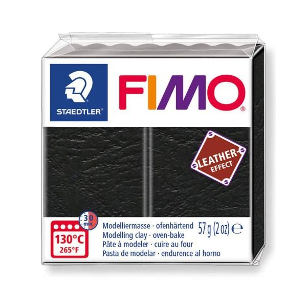 FIMO Effet De Cuir Noir, De L'Artisanat, De L'Art, De L'Argile Polymère, Argile À La Main, De L'Argi - Photo n°1