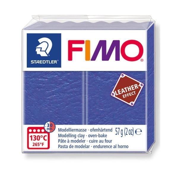 FIMO Effet Cuir Bleu Indigo, De L'Artisanat, De L'Art, De L'Argile Polymère, Argile À La Main, De L' - Photo n°1