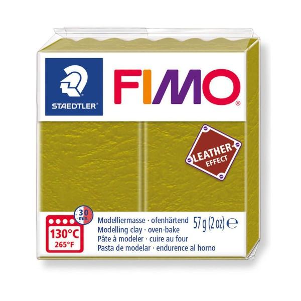 FIMO Effet Cuir Vert Olive, De L'Artisanat, De L'Art, De L'Argile Polymère, Argile À La Main, De L'A - Photo n°1