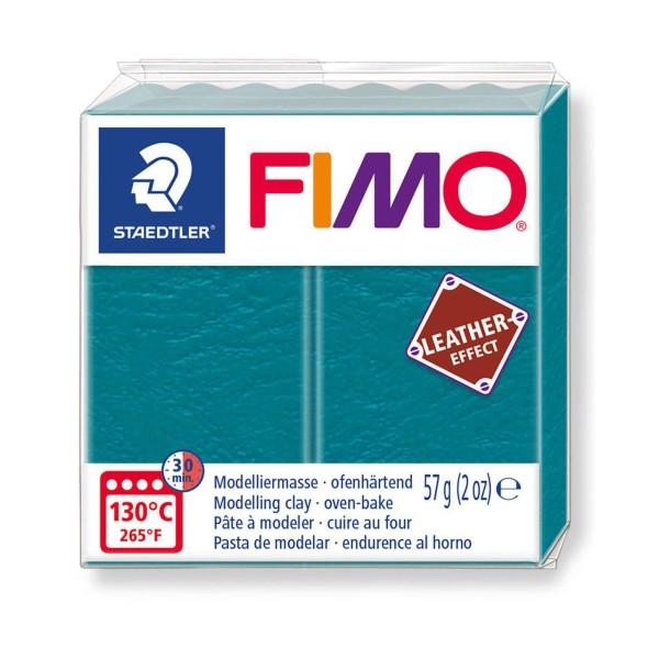 FIMO Effet Cuir Vert Laguna, De L'Artisanat, De L'Art, De L'Argile Polymère, Argile À La Main, De L' - Photo n°1