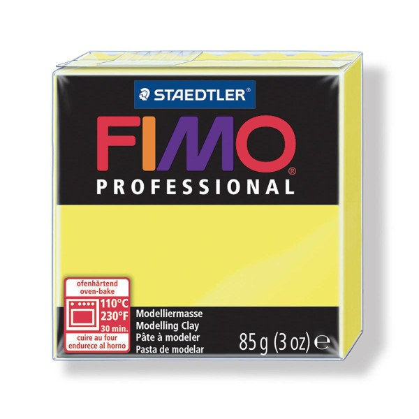 FIMO Professional 85g de Citron, de Sécurité Alimentaire, de l'Argile Tutoriel, Argile, Limon, Argil - Photo n°1