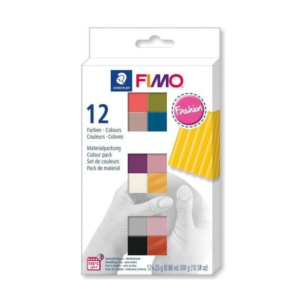 FIMO Soft Set de 12 Couleurs 25g de Mode, Bricolage à la Main, de l'Artisanat Fournitures, de l'Arti - Photo n°1
