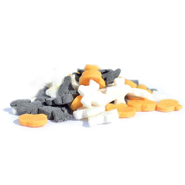 Pot de Halloween en sucre - Noir, orange et blanc - 50 g - Photo n°2