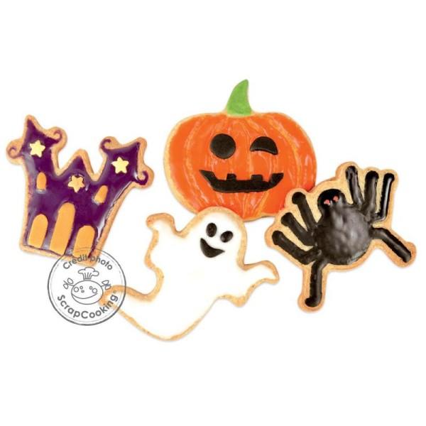 Découpoir Je fais mes biscuits - Plastique - Halloween - 4 pcs - Photo n°2