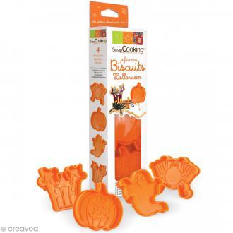 Découpoir Je fais mes biscuits - Plastique - Halloween - 4 pcs
