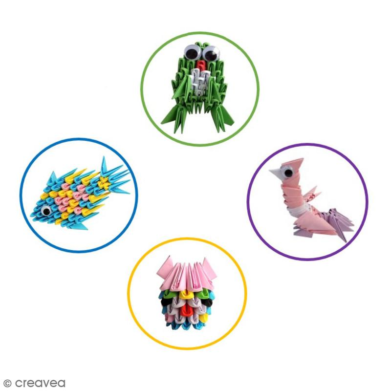 Kit Origami Blocks 3 en 1 - Premiers pas - 360 pcs - Photo n°2