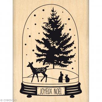 Tampon Noël - Fantaisies Nordiques - Globe Joyeux Noël - 6 x 8 cm