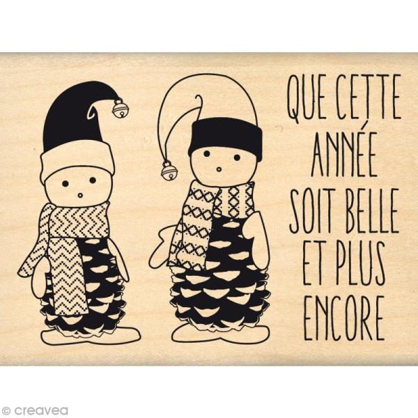 Tampon Noël - Fantaisies Nordiques - Petits lutins - 6 x 8 cm - Photo n°1