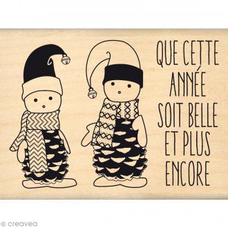 Tampon Noël - Fantaisies Nordiques - Petits lutins - 6 x 8 cm