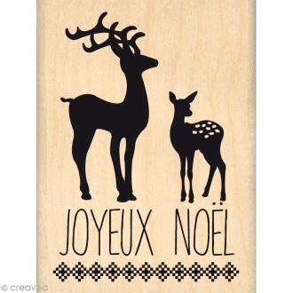 Tampon Noël - Fantaisies Nordiques - Noël en forêt - 6 x 8 cm