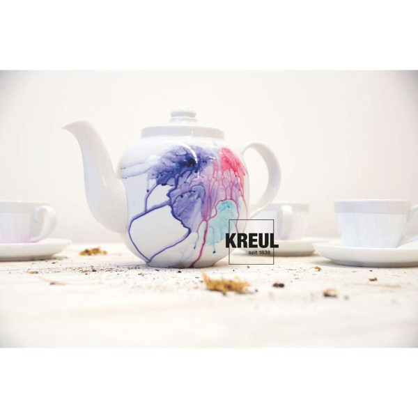 Le verre Et la Porcelaine KREUL Peinture Classique Violet 20ml, Bricolage, Peinture, Peinture d'Arti - Photo n°3